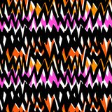 Striped hand drawn pattern with zigzag lines Royalty Free Stock Photo