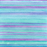 Striped hand drawn watercolor background. Vector version. Blue colors. Hand drawn technique. Stock Photos