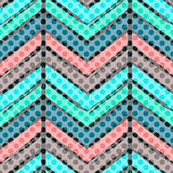 Striped hand painted vector seamless pattern royalty free illustration