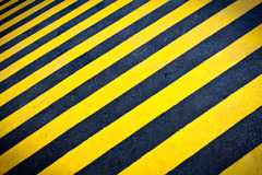 Striped hazard background Stock Photo