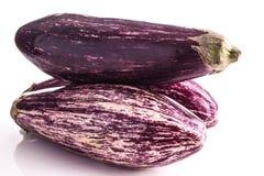 Striped healthy eggplants Royalty Free Stock Photo