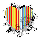 Striped heart Stock Image