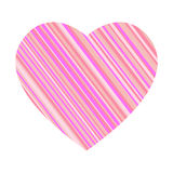 Striped heart Stock Photography