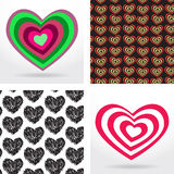 Striped heart on white background  Valentines day Royalty Free Stock Image