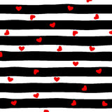 Striped and hearts  background vector Stock Photo