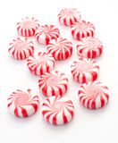 Striped holiday mint candies Royalty Free Stock Images