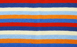 Striped horizontal background of knitted cloth. Stock Image