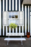 Striped House Stock Images