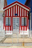 Striped houses in Costa Nova royalty free stock images