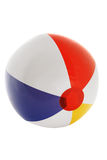 Striped inflatable ball. On the white background Royalty Free Stock Photos