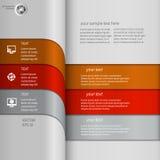 Striped infographics Стоковые Изображения RF