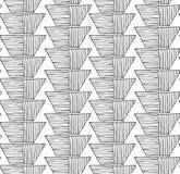Striped inked rough half hexagon braid on white. Seamless pattern. Hand drawn seamless background Royalty Free Stock Photo