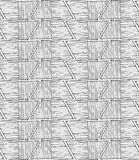 Striped inked rough half hexagons on white. Seamless pattern. Hand drawn seamless background Stock Photography