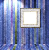 Striped interior room with square frame Stock Images