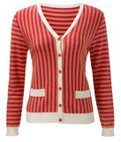 Striped jacket isolated on white background Stock Photo