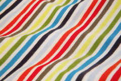 Striped jersey fabric. Close-up photo of folded striped jersey fabric Stock Photo