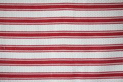 Striped kitchen fabric Stock Image