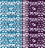 Striped kknitted pattern with braids Stock Photo
