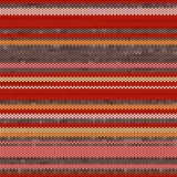 Striped Knit Seamless Pattern, illustration Stock Image