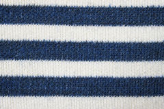 Striped knitted fabric Stock Images