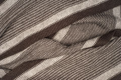 Striped knitted fabric Stock Photos