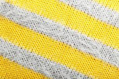 Striped knitted fabric texture as background,. Closeup Royalty Free Stock Photography