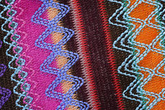 Striped knitted graphic Stock Photography