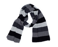 Striped knitted scarf. Stock Image