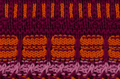 Striped knitted texture Stock Photo