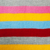 Striped knitted texture Stock Photography