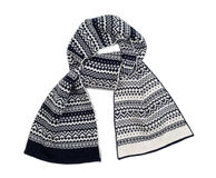 Striped knitted woollen scarf Stock Photography