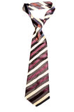 Striped knotted tie on white background Stock Photography