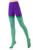Striped leggings Royalty Free Stock Image