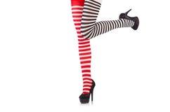 Striped leggings Royalty Free Stock Photo