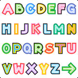Striped letters alphabet set Royalty Free Stock Photography