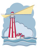 Striped Lighthouse Stock Images