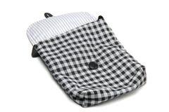 Striped Linen сумка ткани Стоковая Фотография RF