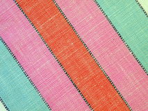 Striped linen fabric Royalty Free Stock Photography