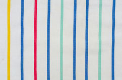 Striped linen fabric background Royalty Free Stock Photos