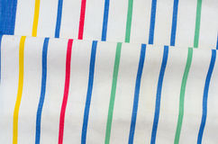 Striped linen fabric background Stock Images