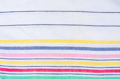 Striped linen fabric background Stock Photos