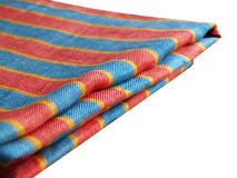 Striped linen table-cloth Stock Image