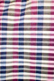Striped loincloth fabric background. Checkered piece of cloth in vintage style Stock Photography