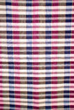 Striped loincloth fabric background. Checkered piece of cloth in vintage style Royalty Free Stock Images
