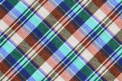 Striped loincloth. Fabric backgroundColorful checkered loincloth fabric background Stock Photos