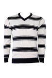 Striped male sweater. Isolated on white Stock Images