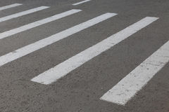 Striped marking of the crosswalk on road Royalty Free Stock Image
