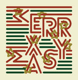 Striped Merry Christmas Royalty Free Stock Photography