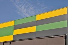 Striped metal facade Royalty Free Stock Image