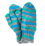 Striped Mittens Royalty Free Stock Photos